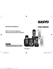 Sanyo CAS-D6325 Instruction Manual
