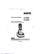 Sanyo CLT-D5882 Instruction Manual