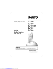 Sanyo CLT-J30 Instruction Manual