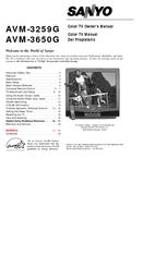 Sanyo AVM-3650G Owner's Manual