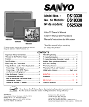 "Sanyo dp37647 37"" vizzon lcd tv manuals."