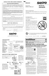 sanyo ds24205 manuals rh manualslib com