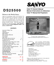 Sanyo DS25500 Owner's Manual