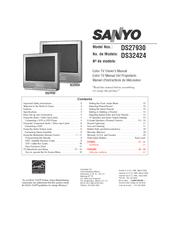 sanyo ds27930 ds32424 manuals rh manualslib com Sanyo TV Model Numbers Sanyo Model Numbers