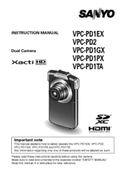sanyo xacti vpc pd2 manuals rh manualslib com