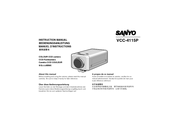 Sanyo VCC-4115P Instruction Manual