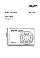 sanyo vpc s1070 instruction manual pdf download rh manualslib com User Manual Sanyo Digital Camera Charger Name