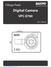 sanyo vpc e760gl 7 1 megapixel digital camera manuals rh manualslib com sony camera manuals to purchase sony camera manual dsc w830