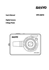 sanyo vpc e870 8 megapixel digital camera manuals rh manualslib com