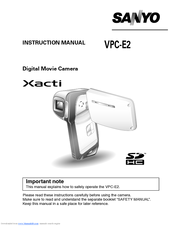 sanyo xacti vpc e2 instruction manual pdf download rh manualslib com