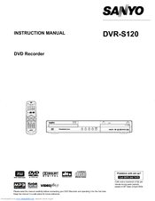 Sanyo DVR-S120 Instruction Manual
