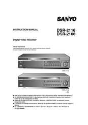 Sanyo DSR-2116H1TB Instruction Manual