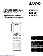sanyo icr b29 manuals rh manualslib com sony instruction manuals free icd-67 sony instruction manuals free icd-67