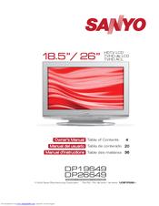 sanyo dp26649 26 lcd tv manuals rh manualslib com Sanyo TV DP26649 Parts Troubleshooting Sanyo DP26649