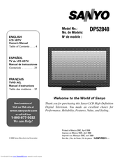 sanyo dp52848 52 lcd tv manuals rh manualslib com sanyo tv service manual sanyo tv manual pdf