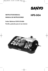 Sanyo HPS-SG4 - Indoor Barbecue Grill Instruction Manual