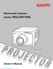 Sanyo PDG-DHT100L - DLP Projector - HD 1080p Owner's Manual