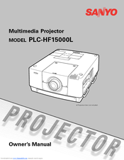 Sanyo PLC HF15000L Owner's Manual