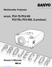 Sanyo PLV-75 Series Owner's Manual
