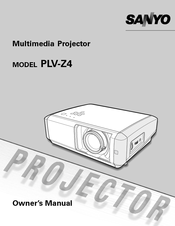 sanyo plv z4 multimedia projector service manual download
