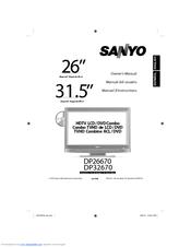 SANYO DP26670 OWNER'S MANUAL Pdf Download