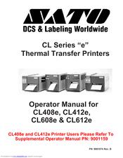 sato cl412e manuals rh manualslib com Example User Guide sato cl412e user manual