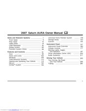 saturn 2007 aura owner s manual pdf download rh manualslib com 2007 Saturn Aura Xe Problems 2007 saturn aura xe owners manual