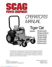 SCAG POWER EQUIPMENT TIGER CAT STC48V-22FS OPERATOR'S MANUAL Pdf