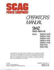 SCAG POWER EQUIPMENT WALK-BEHIND SWZ-19KAI OPERATOR'S MANUAL