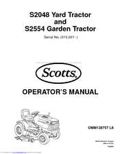 Scotts S2048, S2554 Operator's Manual