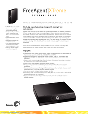 seagate freeagent xtreme st305004fpa2e3 rk specifications pdf download rh manualslib com