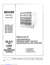 Kenmore 661.623920 Owner's Manual
