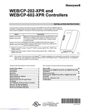 Honeywell WEB/CP-202-XPR Installation Instructions Manual