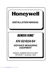 Honeywell BendixKing KN 62A Installation Manual