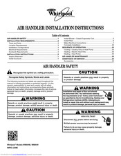 Whirlpool WPIO-239E Installation Instructions Manual