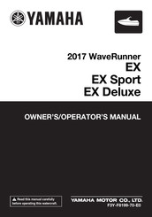 Yamaha 2017 WaveRunner EX Owner's/Operator's Manual