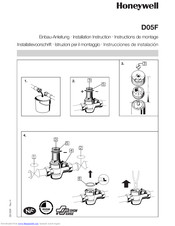 Honeywell D05F Installation Instruction