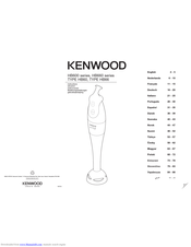 Kenwood HB60 Instructions For Use Manual
