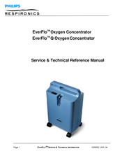 Philips EverFlo Q Service And Technical Reference Manual
