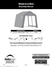 Shelterlogic Shed In A Box 70423 Assembly Manual Pdf Download Manualslib