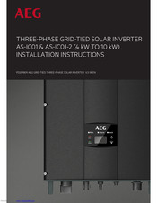 AEG AS-IC01 Installation Instructions Manual