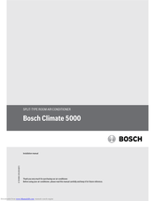 Bosch Climate 5000 Installation Manual