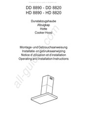 Electrolux HD8820 Operating And Installation Instructions
