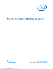 Intel NIOS II Owner Reference Manual