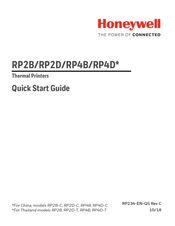 Honeywell RP2B Quick Start Manual