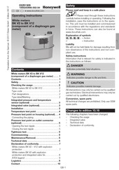 Honeywell BK V2 Operating Instructions Manual