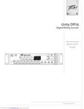 Peavey Unity DR16 Quick Start Manuals