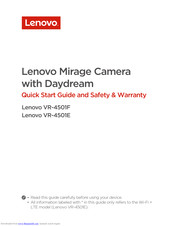 Lenovo Mirage Camera VR-4501E Quick Start Manual