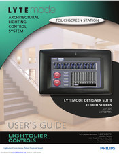Philips Lytemode Designer Suite Touch Screen User Manual