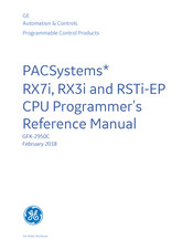 GE PACSystems* RX3i Cpu Programmer's Reference Manual